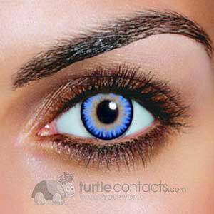 Triple Color Aqua Contacts (Pair)