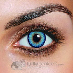 Triple Color Sky Blue Contacts (90 Day)