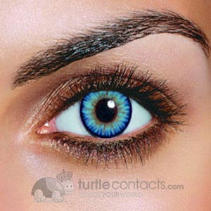 Triple Color Sky Blue Contacts (Pair)