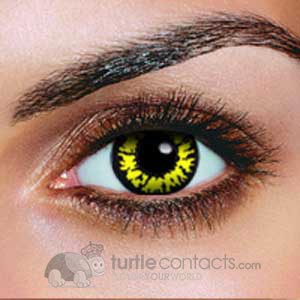 Black Wolf Contact Lenses (Pair)