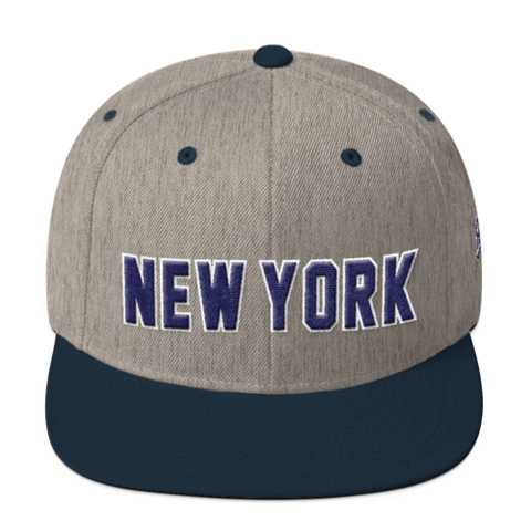 New York - Wool Blend Snapback - Bronx Pinstripes