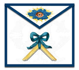 """Blue Ribbon"" Masonic Lodge Officers Aprons (Set of 11)"