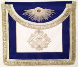 """The Man Who Would Be King"" Masonic Apron, Silver"