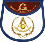 """The Eastern Light"" Past Master Masonic Apron"