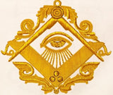 """The Man Who Would Be Master"" Past Master Masonic Apron, Gold"