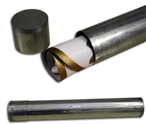 Protective Tin Tube for Masonic Aprons
