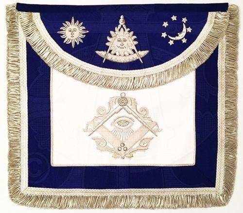 """The Man Who Would Be Master"" Past Master Masonic Apron, Silver"