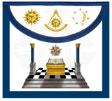 """Blue Lodge Lights"" Past Master Apron"