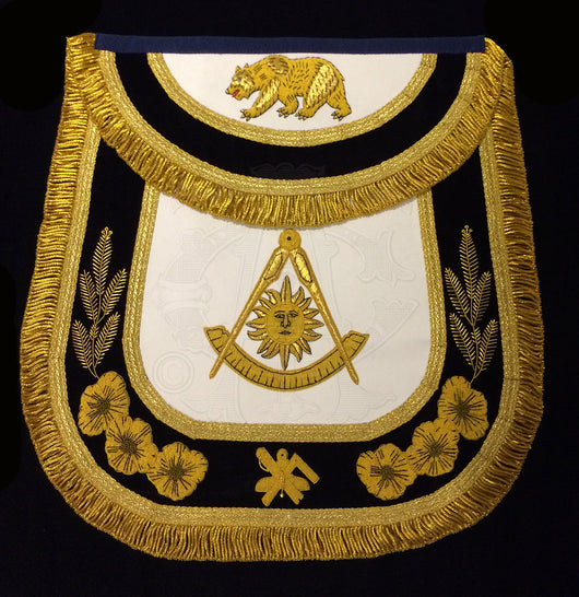 The California Past Master's Masonic Apron, Style A