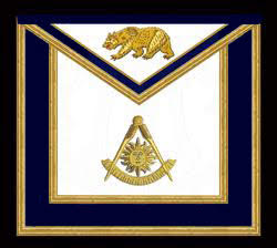 The California Past Master's Masonic Apron, Style B - Triangular Bib