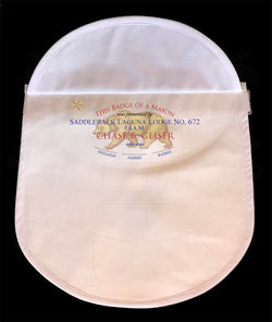 Plain White Member's Apron - Rounded