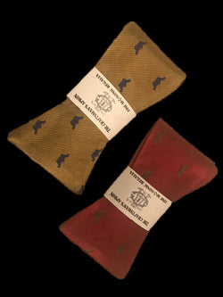Crowned Martyrs Masonic Bowties, Gold and Pomegranate Set