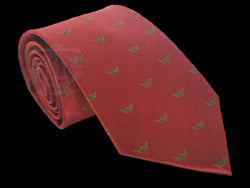 Crowned Martyrs Masonic Tie, Pomegranate with Gold