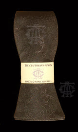 "The ""Ancient York"" Masonic Bowtie, Gray on Black"
