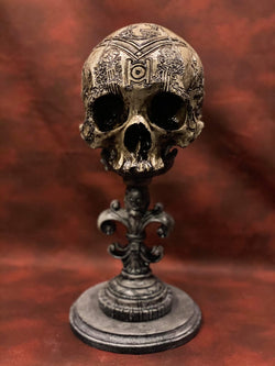 The Craft Skull, Carved Replica Masonic Skull