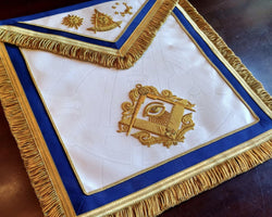 Man Who Would Be Master Past Master Masonic Apron, Gold - Texas Regulation
