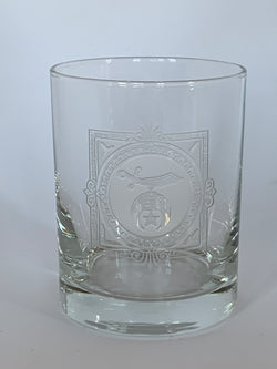 Shriner Masonic Rocks Glass