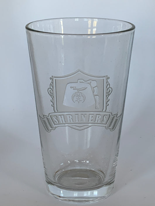 Shriner Masonic Pint Glass