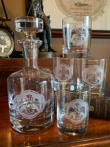 33rd Degree Scottish Rite Masonic Rocks Glasses (Set of 4) and Decanter