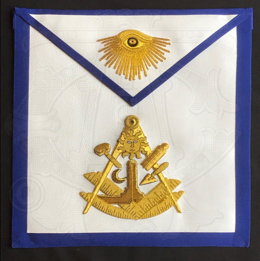 Paul Revere Jewel Past Masters Masonic Apron - Texas Regulation