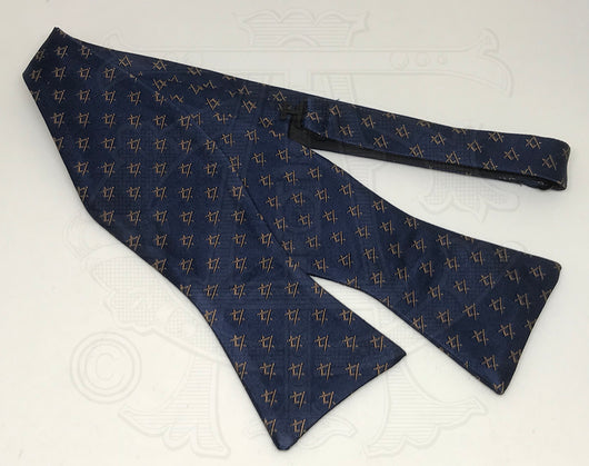 Classic Square and Compasses Masonic Bowtie, Navy