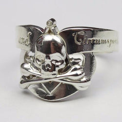 Silence & Circumspection Masonic Ring, Silver