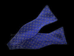 Classic Square & Compasses Masonic Bowtie, Royal Blue with Gold