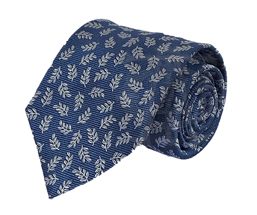 Acacia Necktie, Royal Blue and Silver