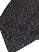 Alternating Square and Compass Necktie, Black and Gray
