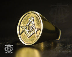 Signature Master Mason Ring, Gold
