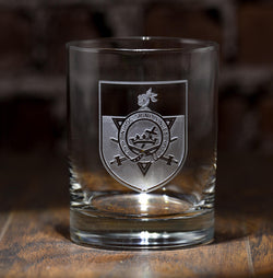 Knights Templar Masonic Rocks Glass