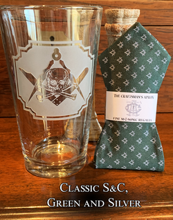 Memento Mori Pint Glass and Bowtie - Choose your design!