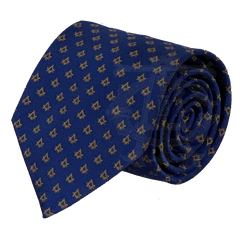 Classic Square and Compasses Masonic Necktie, Navy and Gold