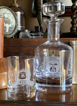 Shriner Decanter and Rocks Glass Package