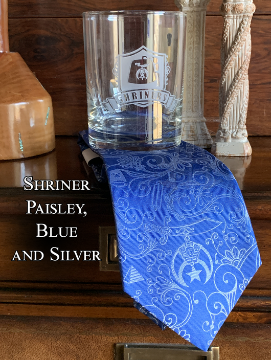 Shriner Rocks Glass and Necktie - Choose your design!