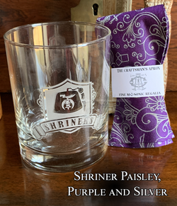 Shriner Rocks Glass and Bowtie - Choose your design!