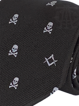 Skull and Crossbones Necktie, Black and White