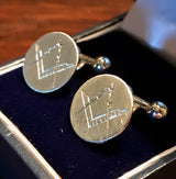 """The Giannini"" Sterling Silver Masonic Cufflinks"