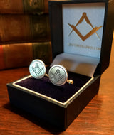 """The Haines"" Sterling Silver Masonic Cufflinks"