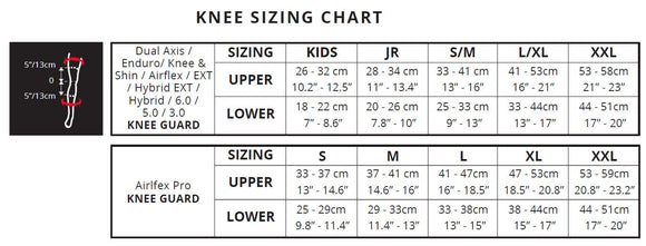 Knee Sizing Chart