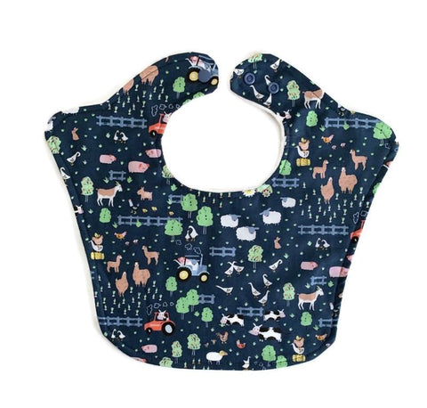 Construction Crew Original Bourgeois Baby Bib for Boys