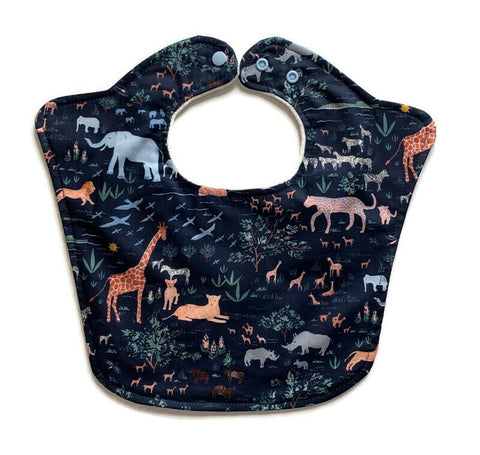 Safari Animals Original Baby Bib