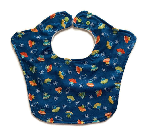 Alien Spaceships Original Baby Bib