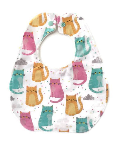 Bourgeois Basic Baby Bib Cats Print