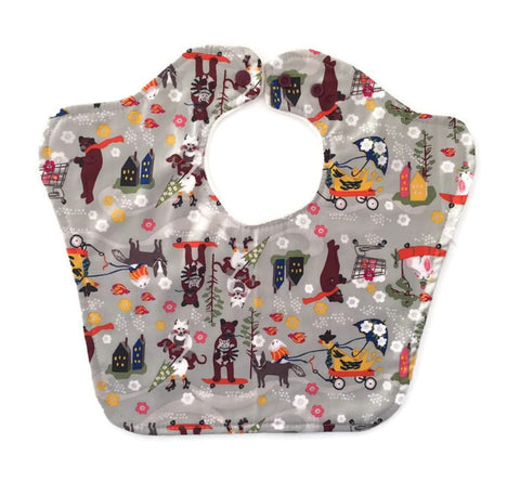 Animal Caravan Original Bourgeois Baby Bib