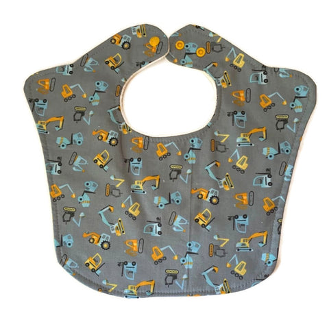 Construction Theme Premium Triple Layer Baby Bib