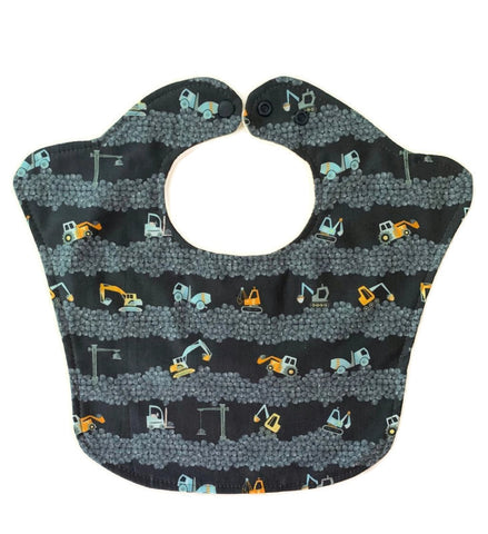 Construction Excavators Original Bourgeois Baby Bib