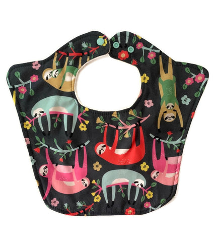 Sloths Premium Triple Layer Baby Bib