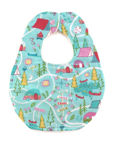 Happy Campers Newborn Baby Bib