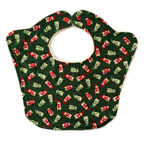 Penguins Winter Theme Baby Bib